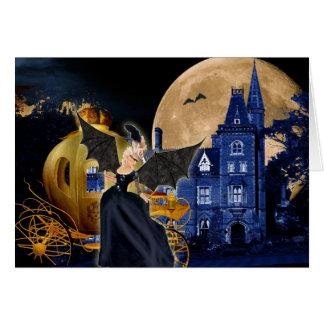 Cartão Mascarada de Marie Antoinette o Dia das Bruxas