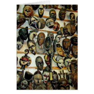 Cartão Máscaras africanas