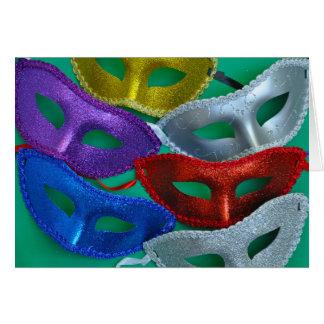 Cartão Máscaras coloridas do brilho