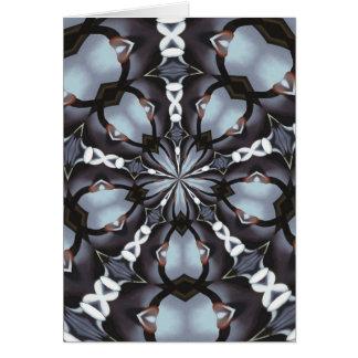Cartão Máscaras do caleidoscópio azul