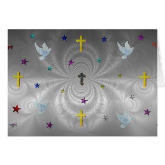 Cartão Máscaras subtis de Jesus