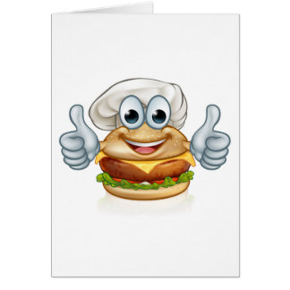 Cartão Mascote do personagem de desenho animado da comida