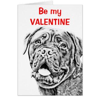 Cartão Mastiff francês