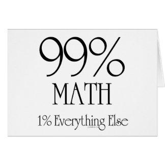 Cartão Matemática de 99%