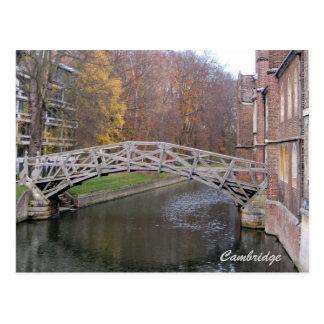 Cartão matemático da ponte