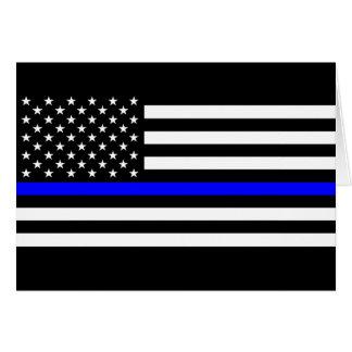 Cartão Matéria azul das vidas - a polícia da bandeira dos