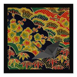 Cartão matéria têxtil japonesa do quimono do teste padrão