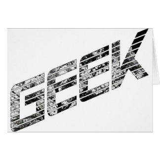 Cartão Material de Techie do geek