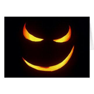 Cartão mau da abóbora do Dia das Bruxas sorrir