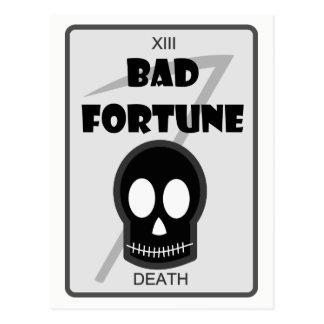 Cartão mau da fortuna
