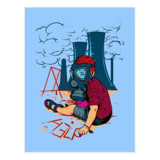 cartão mau das armas nucleares cartão postal