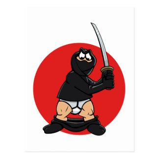 Cartão mau de Ninja do dia