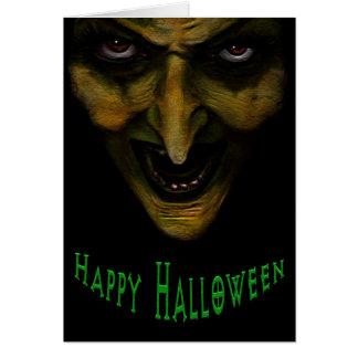 Cartão mau do Dia das Bruxas da bruxa