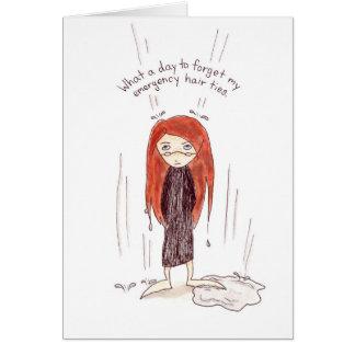 Cartão mau do dia do cabelo