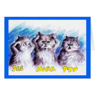 Cartão mau do gatinho