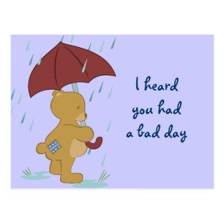 Cartão mau do urso do dia