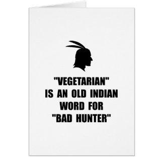 Cartão Mau do vegetariano