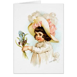 Cartão Maud Humphrey: Criança francesa