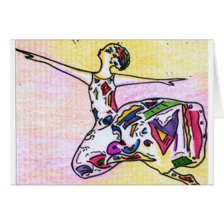 Cartão máximo do dançarino da beleza do estilo de