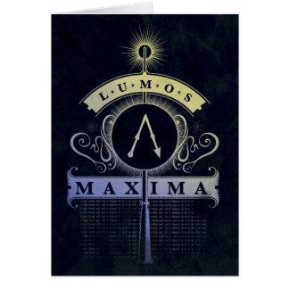 Cartão Máximos do período   Lumos de Harry Potter