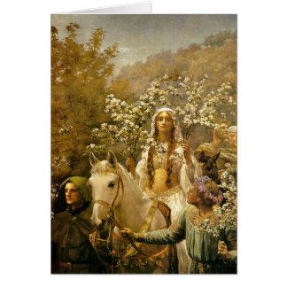 Cartão Maying da rainha Guinevere, John Mineiro, 1902