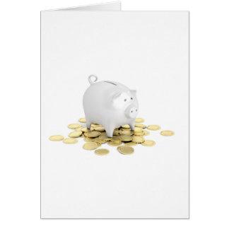 Cartão Mealheiro e moedas