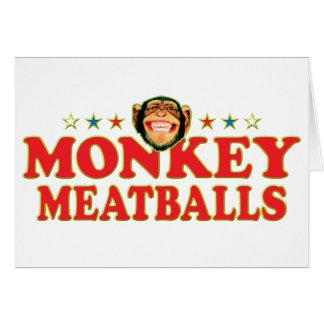 Cartão Meatballs Funky do macaco