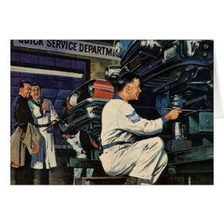 Cartão Mecânico do negócio do vintage auto, serviço de
