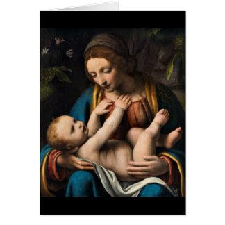 Cartão MED Kristusbarnet de Madonna
