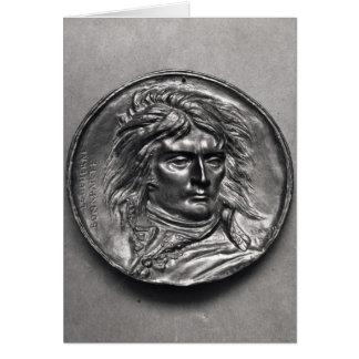 Cartão Medalhão do retrato do general Bonaparte c.1830