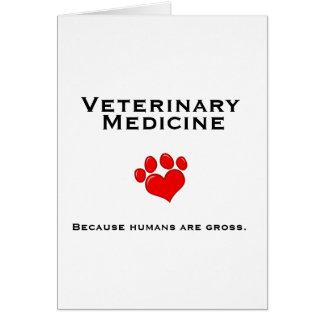 Cartão Medicina veterinária