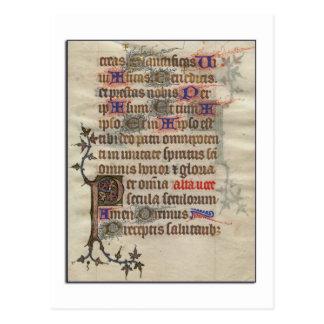Cartão medieval do pergaminho cartões postais