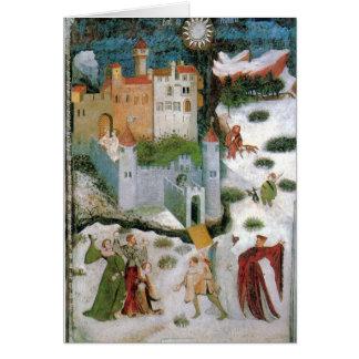 Cartão medieval do solstício