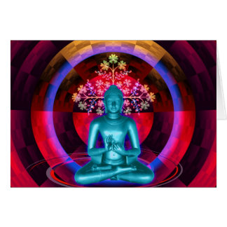 Cartão Meditating de Buddha