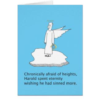 Cartão Medos do ângulo