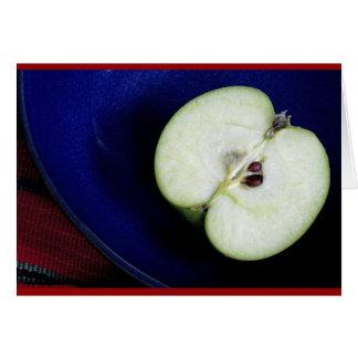 Cartão Meia maçã