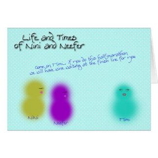 Cartão Meia maratona de NiNi Neefer