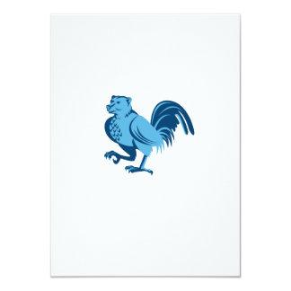 Cartão Meia marcha do híbrido da meia galinha do urso