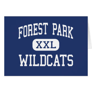 Cartão Meio Franklin dos Wildcats de Forest Park