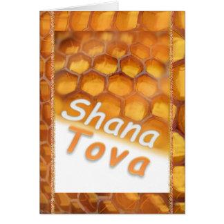 Cartão Mel de Shana-Tova que tira Rosh feliz HaShana