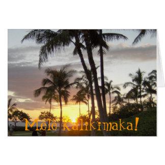Cartão Mele Kalikimaka!