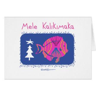 Cartão Mele Kalikimaka (Feliz Natal: PEIXES do Hawaiian),