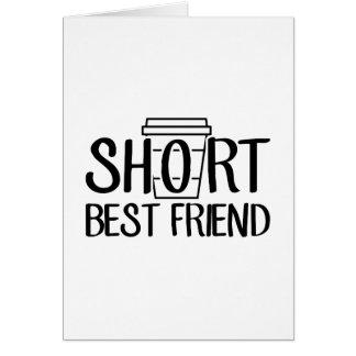 Cartão Melhor amigo curto