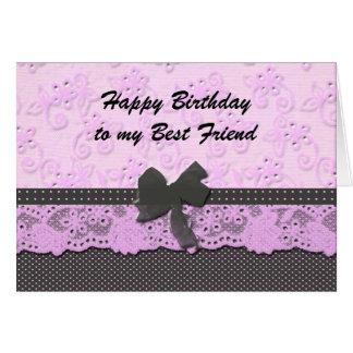 Cartão melhor amigo do feliz aniversario