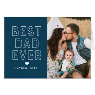 Cartão Melhor foto moderna do dia dos pais do pai sempre