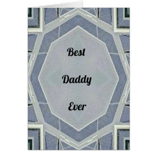"""Cartão """"Melhor pai cinzento moderno anca nunca """""""