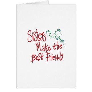 Cartão Melhores amigos das irmãs