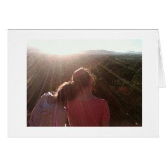 Cartão Melhores amigos e um por do sol