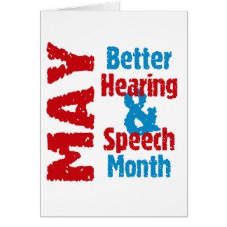 Cartão Melhores audição & mês do discurso