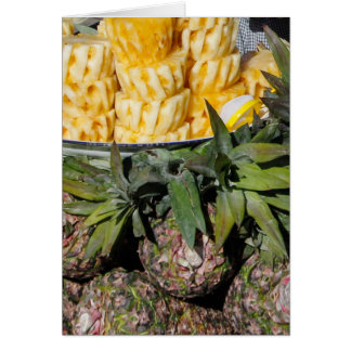Cartão Melões do abacaxi e fatias - fruta do mercado dos